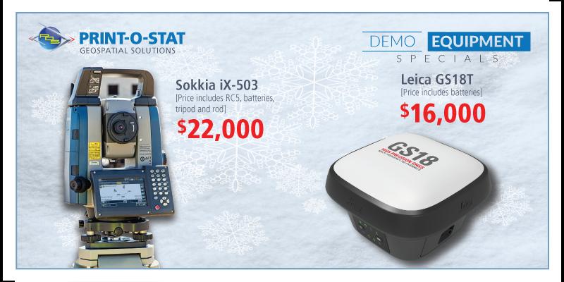 Imagery: Demo Survey Equipment Specials