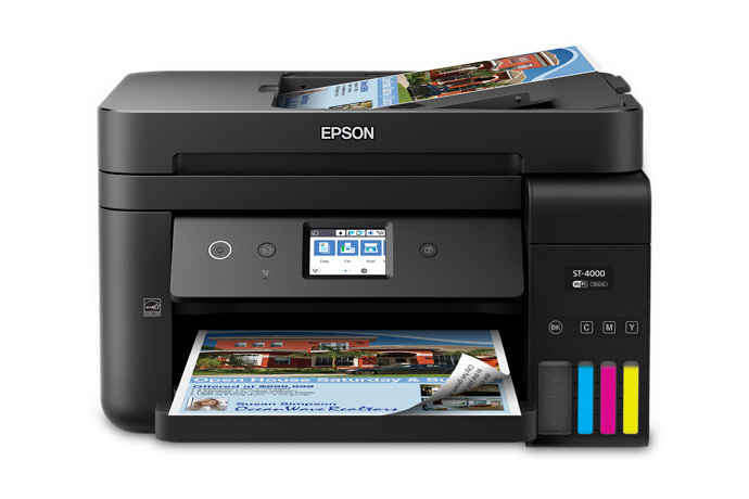 Image: Epson WorkForce ST-4000 Color MFP Supertank Printer